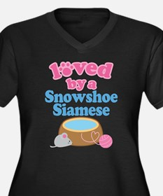 Loved By A Snowshoe Siamese Women's Plus Size V-Ne