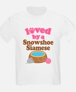 Loved By Snowshoe Siamese Cat T-Shirt