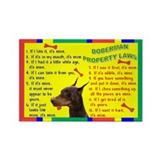 Doberman Pinscher Property Laws 2 Rectangle Magnet