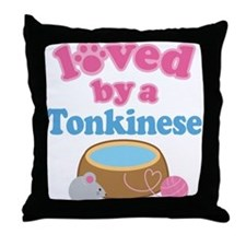 Loved By A Tonkinese Throw Pillow