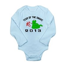Funny Year of The Snake 2013 Long Sleeve Infant Bo
