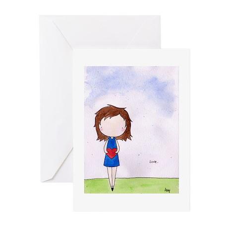 Love (watercolor) Greeting Cards (Pk of 20)