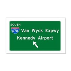 Kennedy Airport Highway Sign Wall Decal