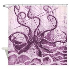 Purple Kraken Shower Curtain