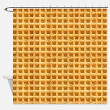 Yummy Giant Waffle Shower Curtain