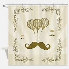 Balloon Moustache Shower Curtain