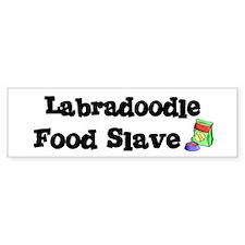 Labradoodle FOOD SLAVE Bumper Bumper Sticker