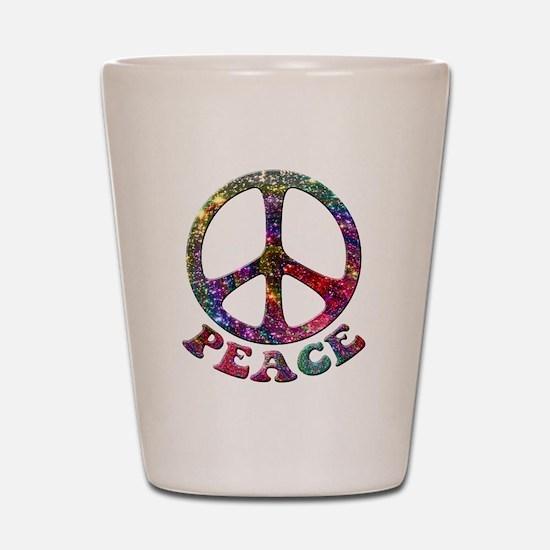 Jewelled Peace Symbol Shot Glass