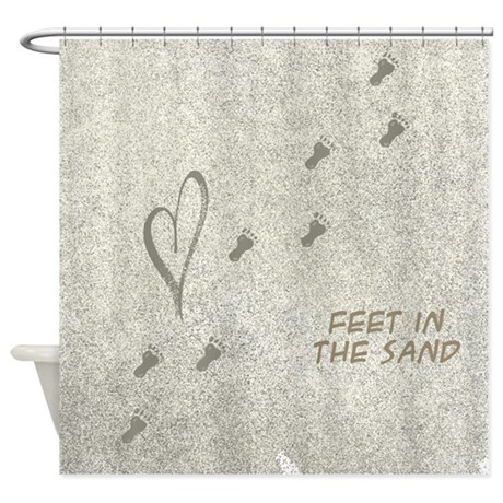 Elegant Feet In The Sand Shower Curtain