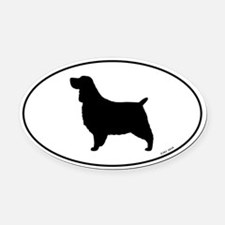 Springer Spaniel Oval Car Magnet
