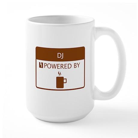 DJ Powered by Coffee Large Mug