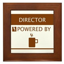 Director Powered by Coffee Framed Tile