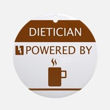 Dietician Powered by Coffee Ornament (Round)