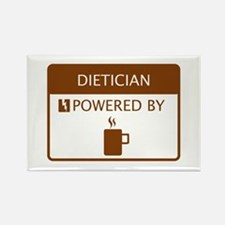Dietician Powered by Coffee Rectangle Magnet