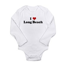 Cute Long beach design Long Sleeve Infant Bodysuit