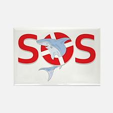 SOS logo Rectangle Magnet