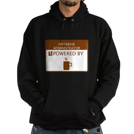 Database Administrator Powered by Coffee Hoodie (d