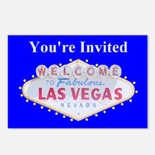 You're Invited Las Vegas Postcards pkg of 8