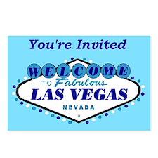 You're Invited Las Vegas Postcards pkg of 8