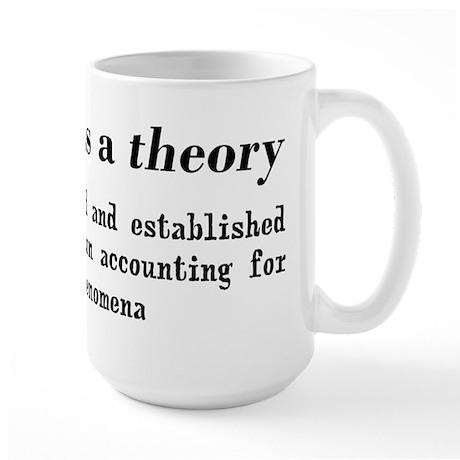 Evolution Definition of Theory Large Mug