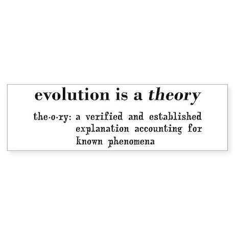 Evolution Definition of Theory Sticker (Bumper)