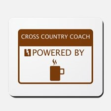 Cross Country Coach Powered by Coffee Mousepad