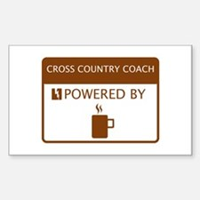 Cross Country Coach Powered by Coffee Decal
