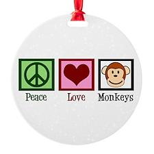 Peace Love Monkeys Ornament