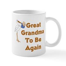 Stork Great Grandma To Be Again Mug