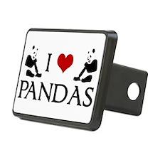 I Heart Pandas Hitch Cover