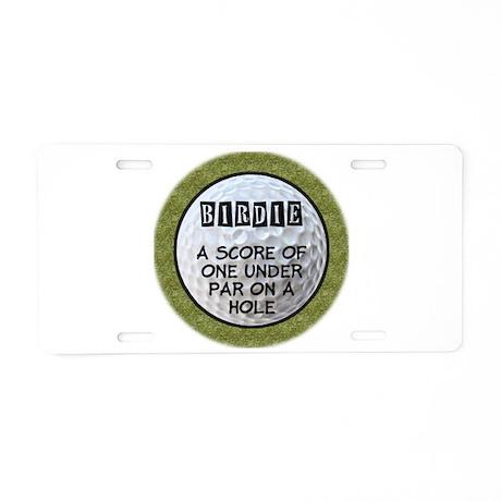 Golf Birdie Aluminum License Plate