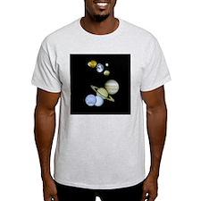 Solar System Ash Grey T-shirt