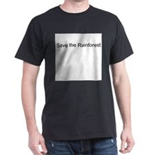 Save the Rainforest Black T-Shirt