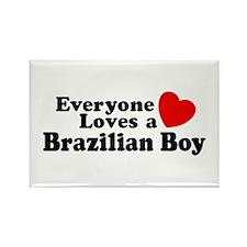 Everyone Loves a Brazilian Boy Rectangle Magnet