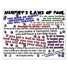 Murphy's Laws of Pool Posters