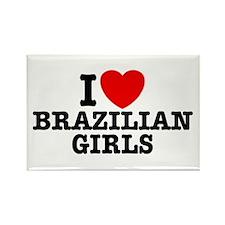 I Love Brazilian Girls Rectangle Magnet