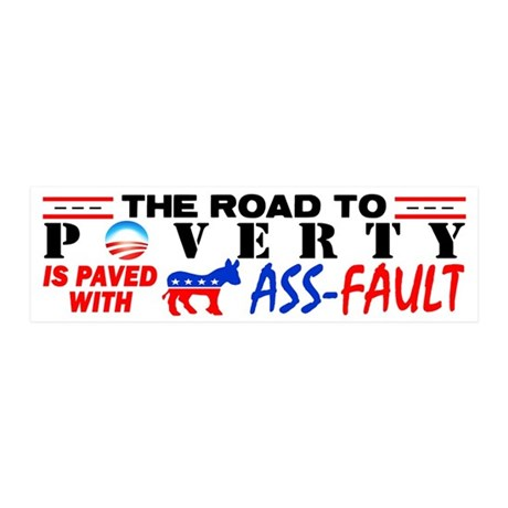 """""""Road To Poverty"""" Wall Decal"""