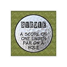 """Golf Birdie Square Sticker 3"""" x 3"""""""