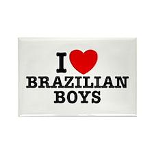 I Love Brazilian Boys Rectangle Magnet