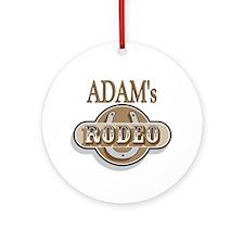 Adam's Rodeo Personalized Ornament (Round)