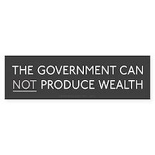 Government Wealth Bumper Sticker