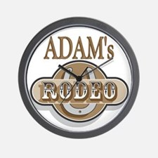 Adam's Rodeo Personalized Wall Clock