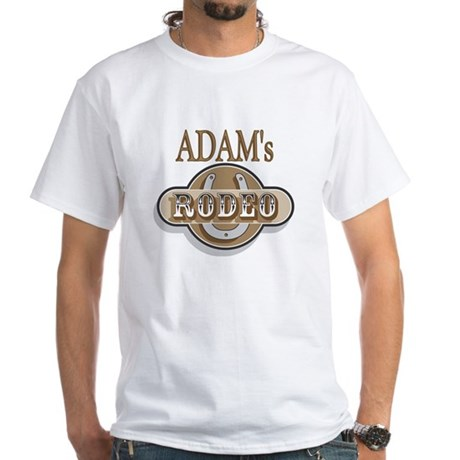 Adam's Rodeo Personalized White T-Shirt