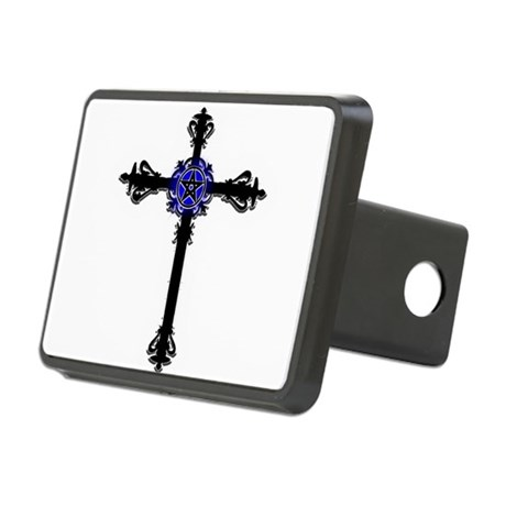 Gothic Cross Rectangular Hitch Cover