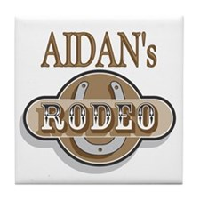 Aidan's Rodeo Personalized Tile Coaster