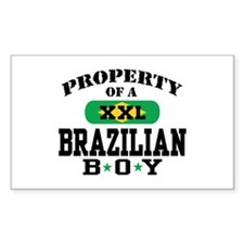 Property of a Brazilian Boy Rectangle Decal