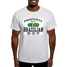 Property of a Brazilian Boy Ash Grey T-Shirt