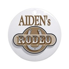 Aiden's Rodeo Personalized Ornament (Round)