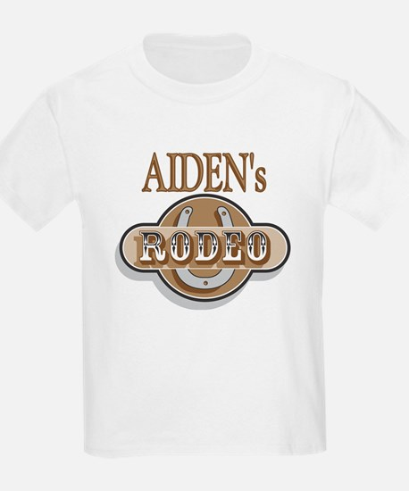 Aiden's Rodeo Personalized Kids T-Shirt