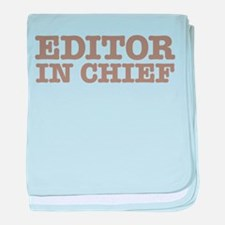 Editor in Chief baby blanket
